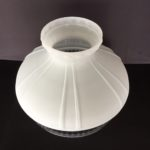 Aladdin 10″ Glass Shade – Frosted White over Crystal