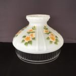 Aladdin 10″ Glass Shade – White with Buttercups (Pre-Order Available)