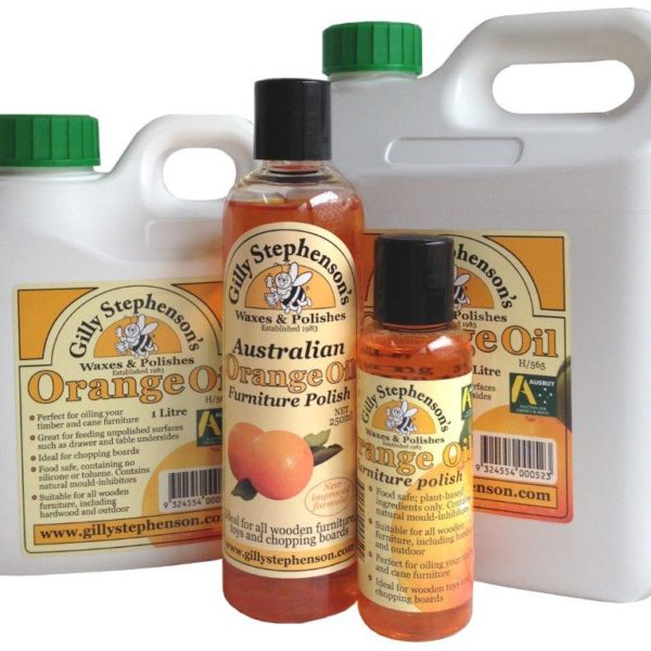 Gilly's Orange Oil Furniture Polish – 100ml, 250ml or 1 Litre